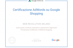 Certificazione AdWords su Google Shopping