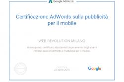 Certificazione AdWords sulla pubblicità per il mobile