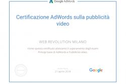 Certificazione AdWords sulla pubblicità video