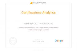 Certificazione Analytics
