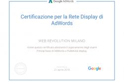 Certificazione per la rete Display di AdWords
